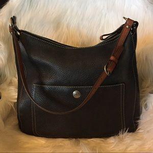 Pebbled Leather Coach Bag